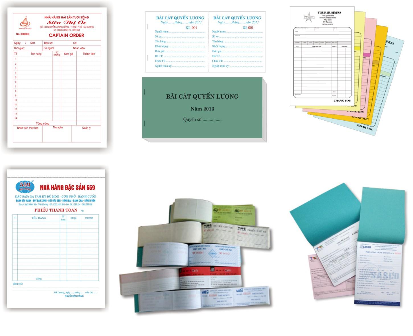 In ấn hóa đơn biểu mẫu